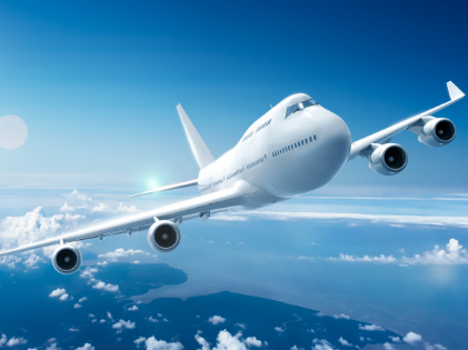 Luchthavenvervoer Ninove vliegtuig in de wolken