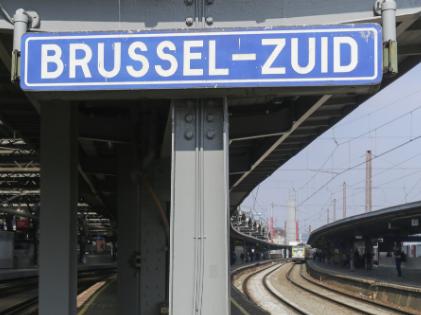 Brussel Zuid trein station wegwijzer